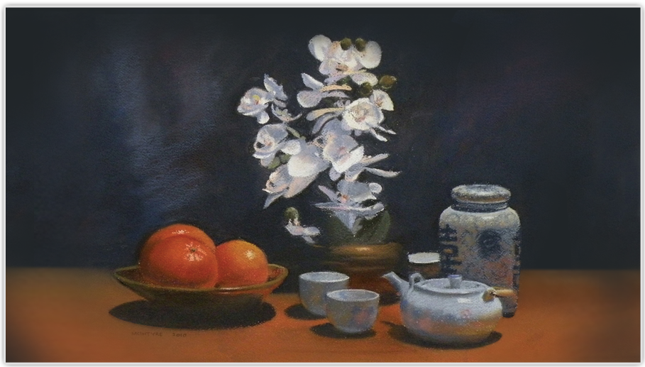 Still Life with Oranges, First in Show, Austin Pastel Society Annual Juried Exhibit, Featured Image